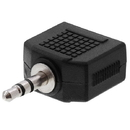 Cmple 125-N 3.5mm Stereo Plug to 2x3.5mm Stereo Jack Adapter