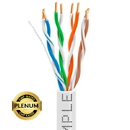 Cmple 1323-N PLENUM CAT5E Bulk Cable UTP 24AWG CMP Rated Bare Copper 1000ft Solid White