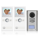 Cmple 1360-N Video Intercom Entry System 1 Apartment Audio,Video Kit with 2 Inside Monitors