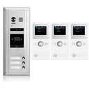 Cmple 1362-N Video Intercom Entry System 3 Apartment Audio,Video Kit, 3 monitors included