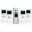 Cmple 1363-N Video Intercom Entry System 4 Apartment Audio,Video Kit, 4 monitors included