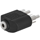 Cmple 237-N 3.5mm Stereo Jack to 2xRCA Plug Adapter