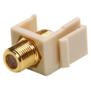Cmple 490-N Keystone Jack-Modular F Type(Gold Plated) IVORY