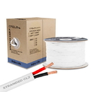 Cmple 694-N 18AWG CL2 Rated 2-Conductor Loud Speaker Cable - w 250ft For In-Wall Install.