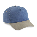 Cobra Caps TDW-R 5 Pnl Denim Washed-Relaxed, Sky/Sand