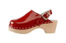 Cape Clogs 1321005 Adult Patent Leather Colors, Cranberry