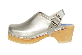 Cape Clogs 1321342 Solid Plain, Silver