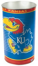 "Kansas Jayhawks 15"" Waste Basket"