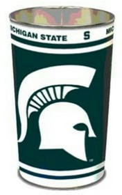 "Michigan State Spartans 15"" Waste Basket"