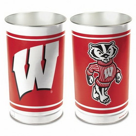 "Wisconsin Badgers 15"" Waste Basket"