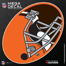 Cleveland Browns Decal 12x12 Mega