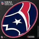Houston Texans Decal 12x12 Mega
