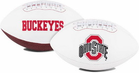 Ohio State Buckeyes Full Size Embroidered Football
