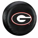 Georgia Bulldogs Black Tire Cover - Standard Size