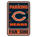 Chicago Bears Sign - Plastic - Fan Zone Parking - 12 in x 18 in