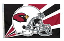 Arizona Cardinals Flag Flag 3x5 Helmet