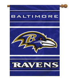 "Baltimore Ravens 28""x40"" 2-Sided Banner"