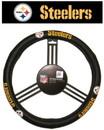 Pittsburgh Steelers Steering Wheel Cover - Leather