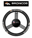Denver Broncos Steering Wheel Cover - Leather