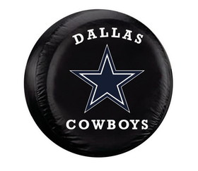 Dallas Cowboys Black Tire Cover - Standard Size