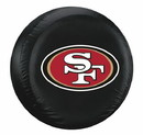 San Francisco 49ers Black Tire Cover - Standard Size