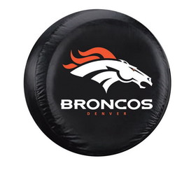 Denver Broncos Black Tire Cover - Standard Size