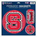 North Carolina State Wolfpack Magnets 11x11 Prismatic Sheet