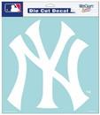 New York Yankees Decal 8x8 Die Cut White