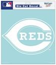 Cincinnati Reds Decal 8x8 Die Cut White