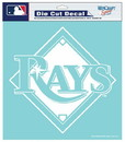 Tampa Bay Rays Decal 8x8 Die Cut White