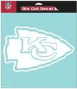 Kansas City Chiefs Decal 8x8 Die Cut White
