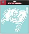 Tampa Bay Buccaneers Decal 8x8 Die Cut White
