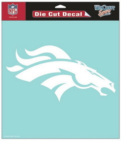 "Denver Broncos Die-Cut Decal - 8""x8"" White"