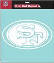 San Francisco 49ers Decal 8x8 Die Cut White
