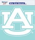 Auburn Tigers Decal 8x8 Die Cut White