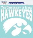 Iowa Hawkeyes Decal 8x8 Die Cut White