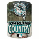 Florida Marlins Wood Sign - Country