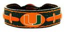 Miami Hurricanes Team Color Football Bracelet