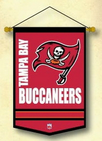 "Tampa Bay Buccaneers Wool 12""x18"" Mini Banner"