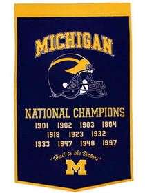"Michigan Wolverines 24""x36"" Dynasty Wool Banner"