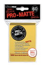 Deck Protectors, Pro Matte - Small Size - Yellow - (10 pks of 60 per disp)