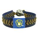 Milwaukee Brewers Baseball Bracelet - Team Color Style