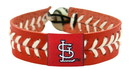 St. Louis Cardinals Baseball Bracelet - Red Band, White Stiches