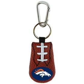 Denver Broncos Classic Football Keychain