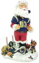 St. Louis Rams Santa Claus Forever Collectibles Bobblehead