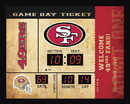 San Francisco 49ers Clock - 14x19 Scoreboard - Bluetooth
