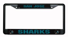 San Jose Sharks Black Chrome License Plate Frame