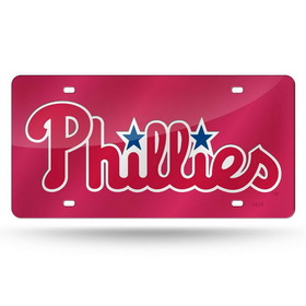 Philadelphia Phillies Laser Cut Red License Plate