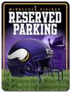 Minnesota Vikings Metal Parking Sign