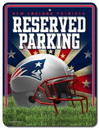 New England Patriots Metal Parking Sign